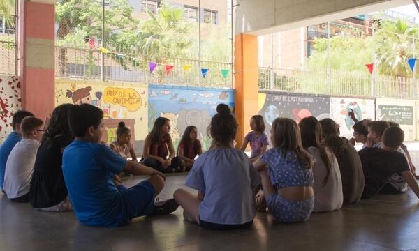 Nati Bergadà a l'escola Valldaura
