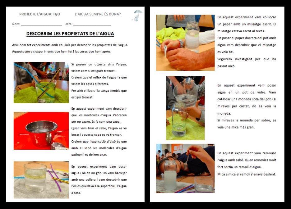 L'aprenentatge basat en projectes: Experimentació